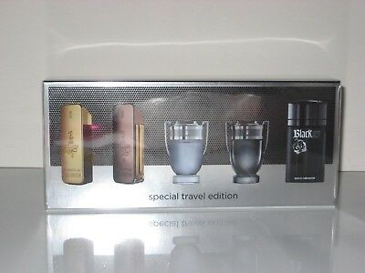 Paco Rabanne 1 ONE MILLION Men 5 Piece Mini Gift Set New In Box Travel Edition