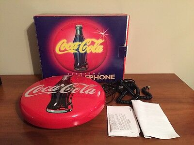 Coca Cola Blinking Disc Telephone In Box (1995)