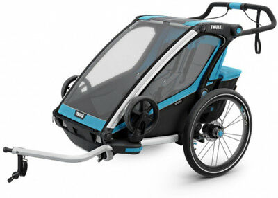 Thule Chariot Lite 2 Child Trailer Blue Grass/Black