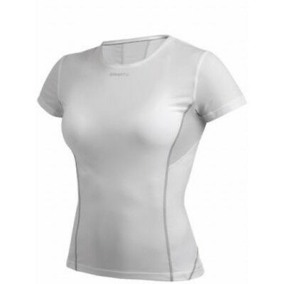 Craft Stay Cool Womens Base Layer Tee With Mesh White