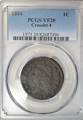 1814 Classic Head large cent, PCGS VF20