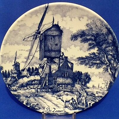 Vintage ChemKeFa DELFT BLAUW Four Seasons SUMMER (DE ZOMER) Wall Plate - 6.75""