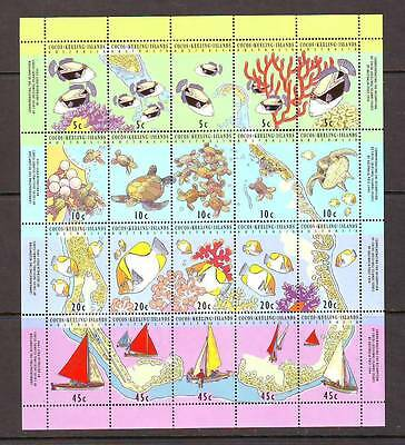 a130 - COCOS (KEELING) ISL - SG296-315 MNH 1994 FISH/TURTLES/BOATS - SHEETLET