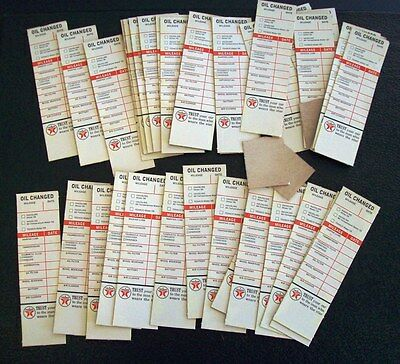 37 Vintage Texaco Oil Change Decals, 1963