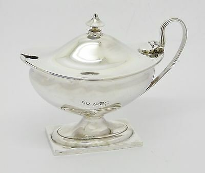 Lovely Antique Henry Matthews Solid Sterling Silver Mustard Pot Hm Chester 1913