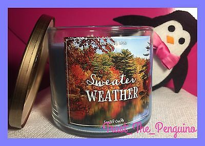 Bath and Body Works Sweater Weather 3-wick Candle 14.5 oz