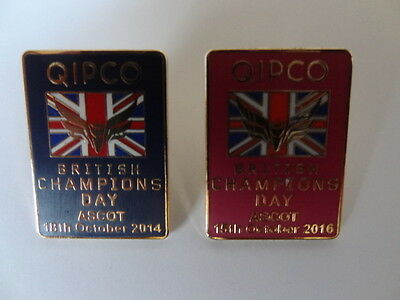 Ascot 'Champions Day' Badges 2014 and 2016