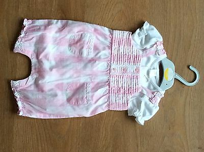 mini club girls romper age 3-6months pink gingham