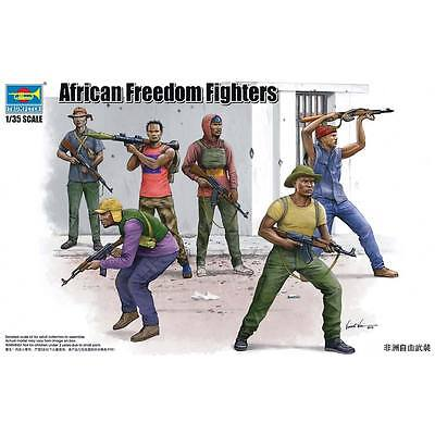 NEW Trumpeter 1/35 African Freedom Fighters Figure Set (6) 438