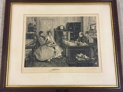 W Dendy Sadler Signed Framed Print - Signed Doble - Lovely  - 1897