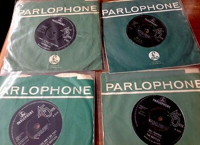 "THE BEATLES job lot 7"" singles x4, Original Parlophone Sleeves"