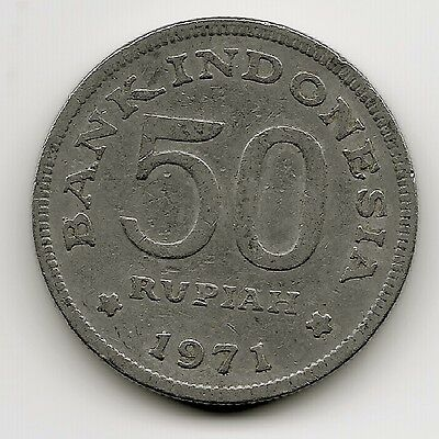 World Coins - Indonesia 50 Rupiah 1971 Coin KM # 35
