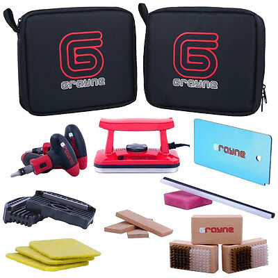 New Grayne Ski and Snowboard Tuning Kit with Waxing Iron