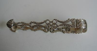 Dutch Sterling Silver Sugar Tongs