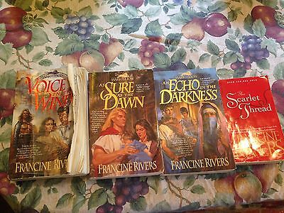 """Francine Rivers: """"Mark of the Lion"""" 4 Book Lot..Buy 3 get 1 free,     Christian."""