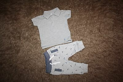 Baby Boy's Polo T-shirt & Jogging Bottoms Age: Up To 3 Months