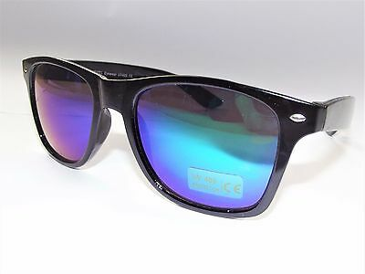 NEW Wayfare Sunglasses Retro Classis Mens Womens UV400 Mirror blue lenses