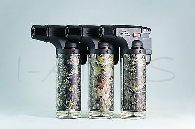 3x (Original) Eagle Torch Gun Adjustable Flame Refillable Lighters Mossy Oak