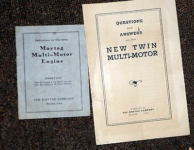 Maytag Multi-motor Engine Operating & questions manuals
