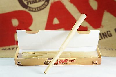 1 Pack AUTHENTIC Raw Rolling Paper Pre-Rolled Classic Cones King Size 32 Cones