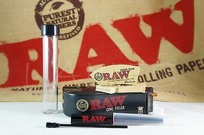 RAW Rolling Papers Perfect Cone Maker Combo Maker+Filler+2 Perfect Cone Tips