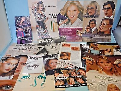 Large Lot of Vtg 1970s & 1980s Magazine Beauty Tips & Ads Christie Brinkley