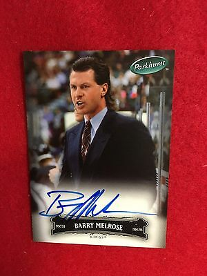 2006  Parkhurst Barry Melrose certified autograph hockey card  Kings  signature