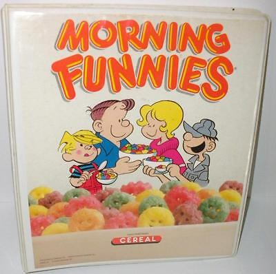1988 Morning Funnies Cereal Ralston Purina Branded Sales Planner Binder- RARE