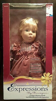 Rare In Box Expressions Doll, Dolls By Berenguer ( 90's ) Cheap! Blue Eyes!