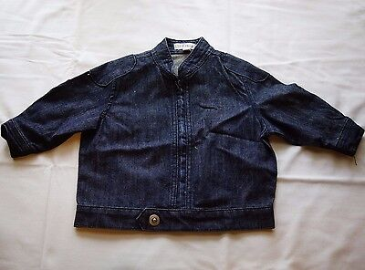 Infancy Boy Girl Unisex Denim Zip Jacket - Size 0 NEW