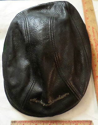 Vintage leather Harley hat collectible old motorcycle clothing biker driving cap