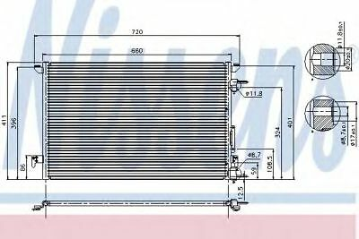 VAUXHALL VECTRA C Air Con Condenser 1.8,2.2,3.2 02 to 08 AC Conditioning 1850076