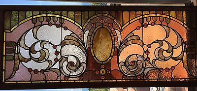 Antique Stained / Jeweled glass window