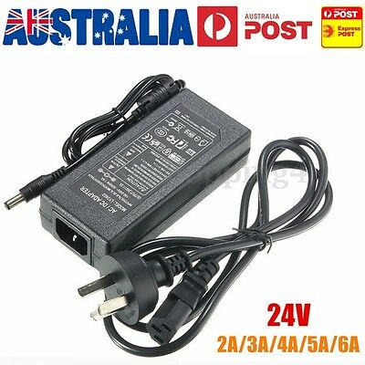 AC100-240V to DC 24V 2A/3A/4A/5A/6A LED Strip Power Supply Transformer Adapter