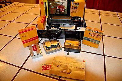 Vintage Kodak XL 362 Super 8 Movie Camera in Box with film & 2 film splicers!!!