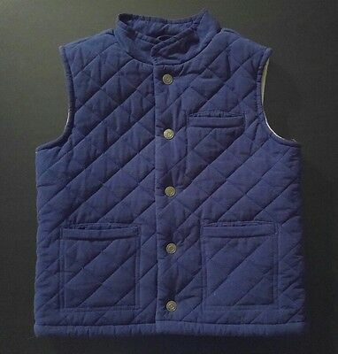 Janie and Jack blue quilted puffer vest boys size 3-4