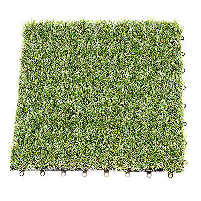 4 X 30*30cm Artificial Grass Synthetic Turf Lawn Garden Landscape 20mm Thickness