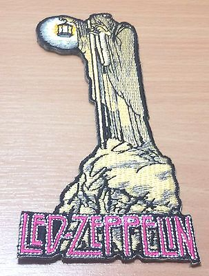 New Led Zeppelin Rock Band Heavy Metal Logo Embroidered Ironon Patch Shirt Po325