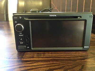 Toyota Navigation Gps Sat Nav Genuine Stereo Radio Head Unit Bluetooth Usb Divx