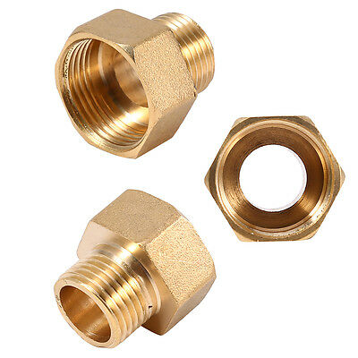 Brass 1/2PT Male to 3/4PT Female Thread Reducer Hex Bushing Pipe Fitting Adapter