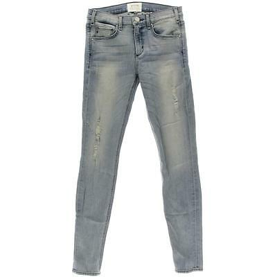 McGuire Denim 4783 Womens Newton Blue Distressed Mid Rise Skinny Jeans 27 BHFO