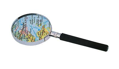 Hand Magnifier Reading Magnifying Glass Aid 90mm Ø 3 Compartment Magnification