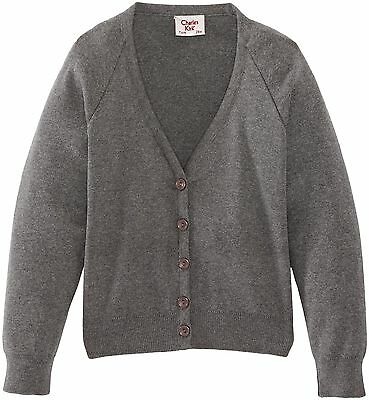 (TG. C34 IN- UK) Charles Kirk Coolflow - Cardigan, unisex, Grigio (Medium (H7y)
