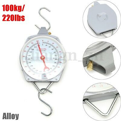 100kg Hanging Weighing Scales Mechanial Alloy Heavy With Hanging Butchering