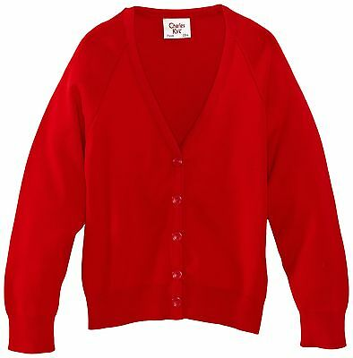(TG. C30 IN- UK) Charles Kirk Coolflow - Cardigan, unisex, Rosso (T7h)