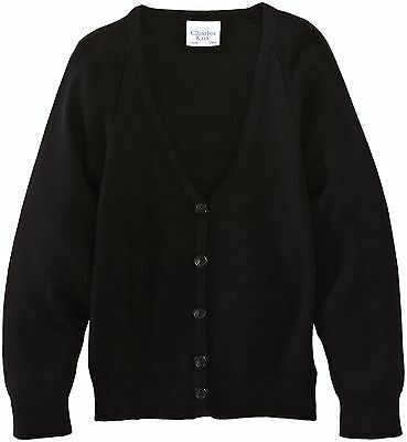 (TG. C32 IN- UK) Charles Kirk Coolflow - Cardigan, unisex, Nero (Black), (N6o)