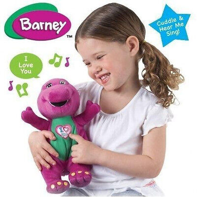 Barney I Love You Singing Soft Plush Song Cuddle Girls Granddaughter Gift Toy