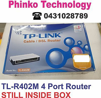 TP-Link TL-R402M 10/100 4 Port Cable / DSL Wired Router