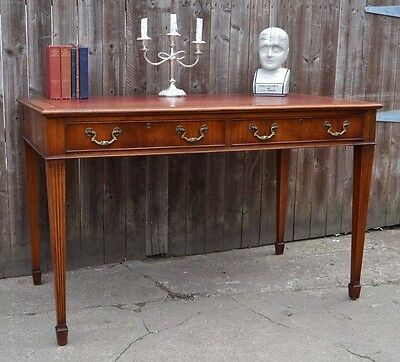 Fine Georgian Style Writing Table Desk Red Leather Insert Mahogany Antique