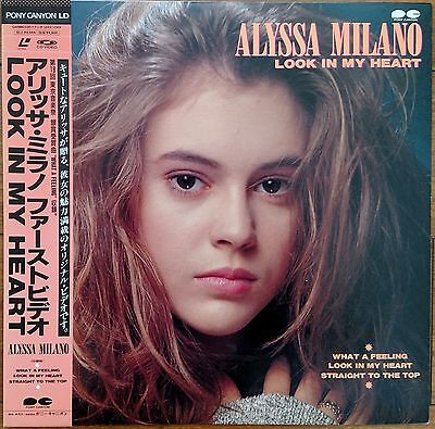 Laserdisc ALYSSA MILANO Look in My Heart JAPAN LD OBI Rare Music